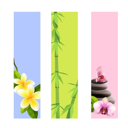 orchid tree: Collection of spa banners Stock Photo