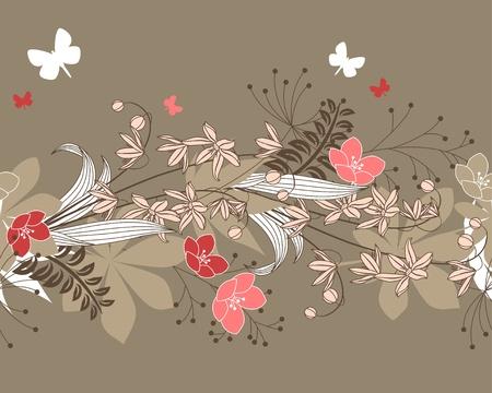 horisontal: Seamless horisontal floral pattern