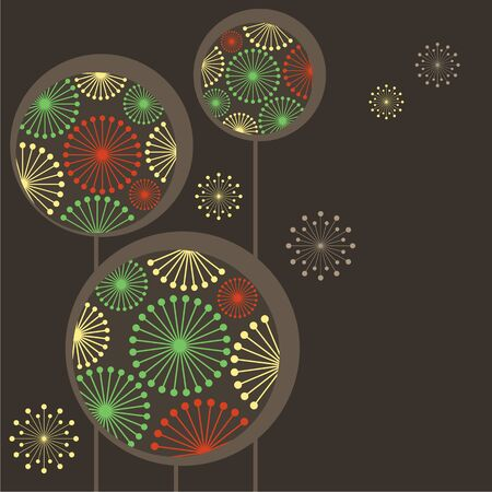 Beautiful stylized dandelions Vector