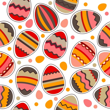Seamless  easter pattern with eggs Stock Vector - 9237090