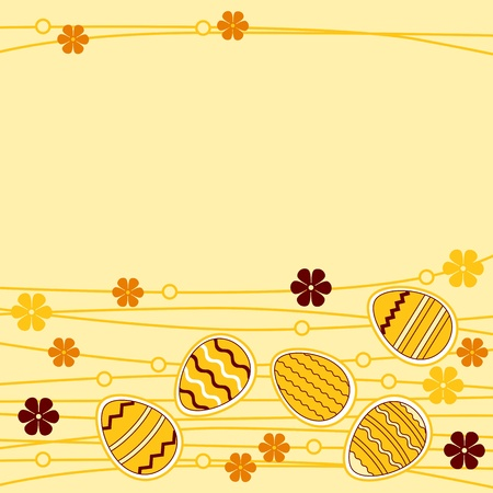 Greeting card wirh easter eggs Vector