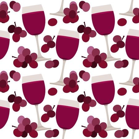 weingläser: Nahtlose Muster mit Weingl�ser