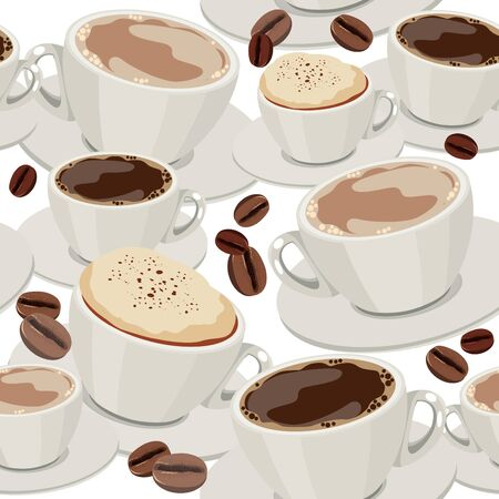 Seamless pattern with cups of coffee Stock Vector - 9459135