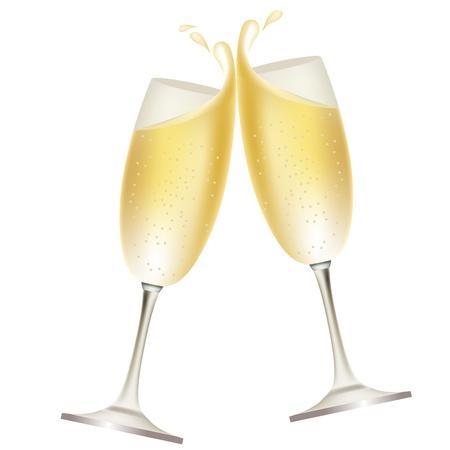 Champagne splash Stock Vector - 9566779