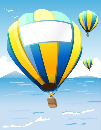 text free space: Hot Air Balloons  Illustration