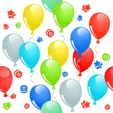 repeat: Seamless pattern with balloons