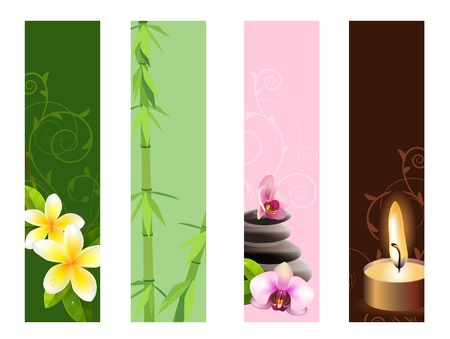 zen stone: Vertical spa banners  Illustration