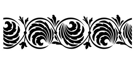 seamless tile: Seamless horizontal border Illustration
