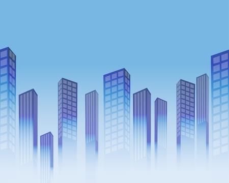 De fondo sin fisuras con los rascacielos estilizados Vectores