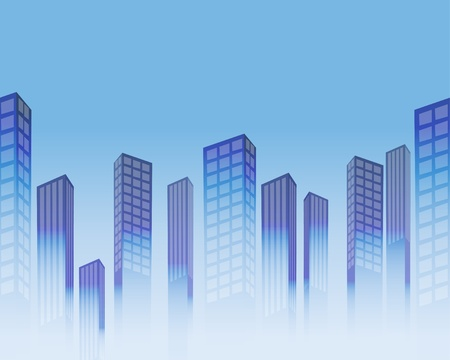 Seamless background with stylized skyscrapers  Vector