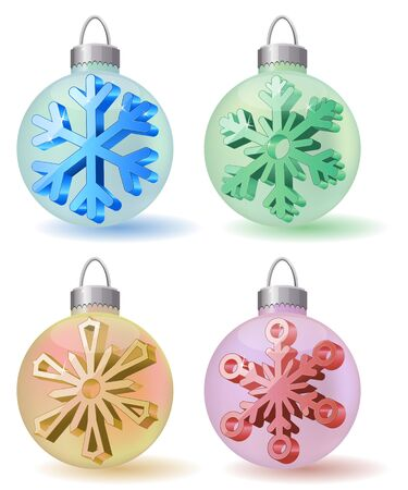 Collection of Christmas balls Vector