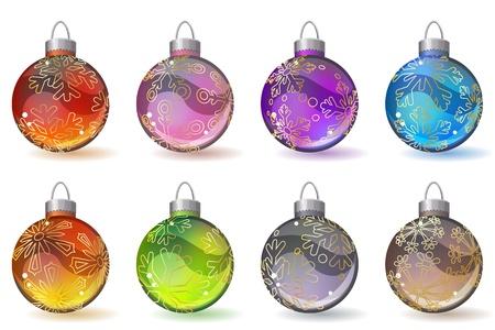 Different christmas glass balls