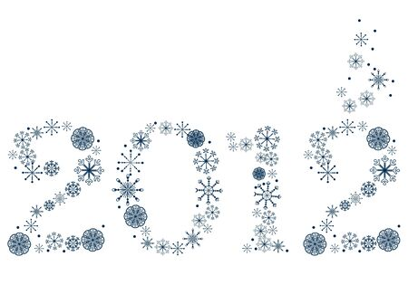 New year 2012 made of snowflakes Vector