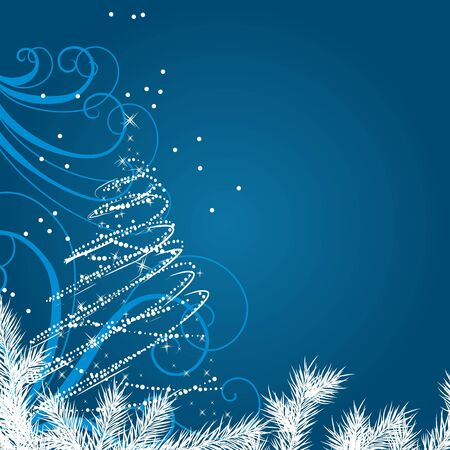 Christmas background with stylized Christmas tree Stock Vector - 10448654