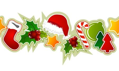 christmas x mas: Beautiful seamless christmas pattern  Illustration