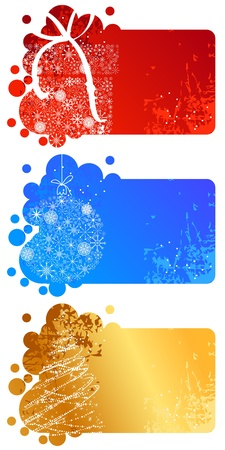 Set of different Christmas banners Vector
