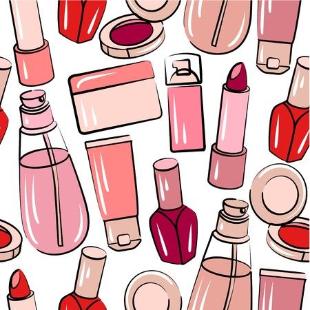 make up: Seamless avec des produits cosm�tiques divers