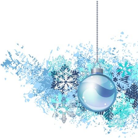 x mas background: Hanging Christmas ball