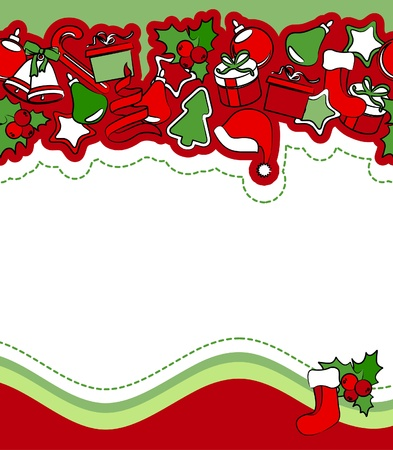 clip art draw: Christmas greeting card  Illustration