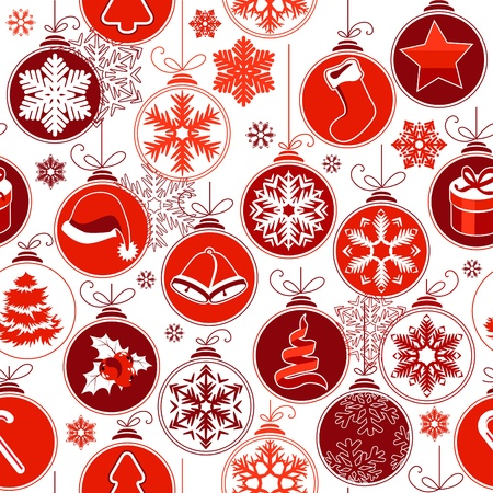 christmas x mas: Christmas seamless background with balls Illustration