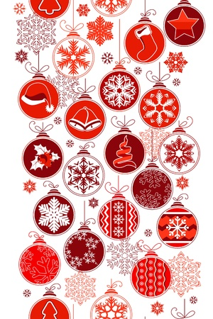 Christmas vertical seamless border with balls Stock Vector - 10563988