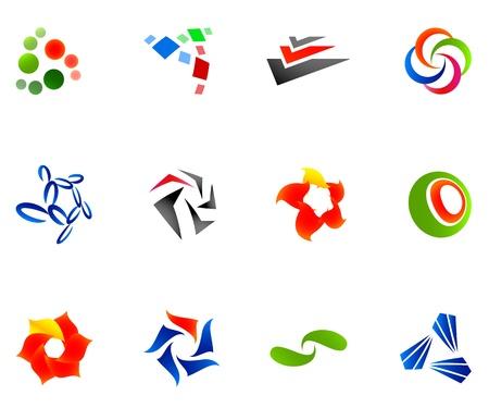 logotype: 12 colorful symbols