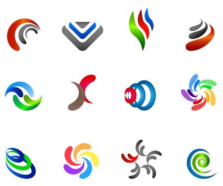 12 s�mbolos de colores