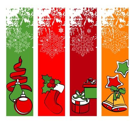vertical banner: Four vertical winter banners