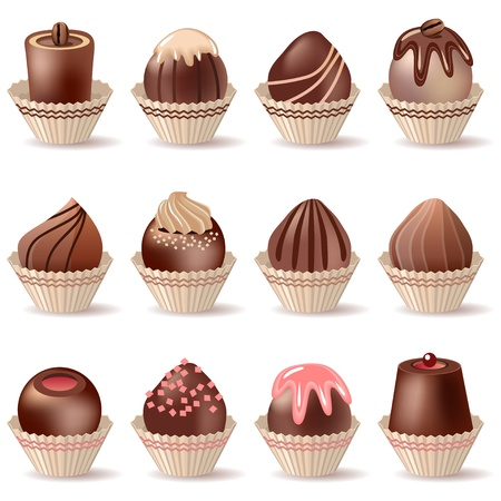 Collection of different sweets Vector