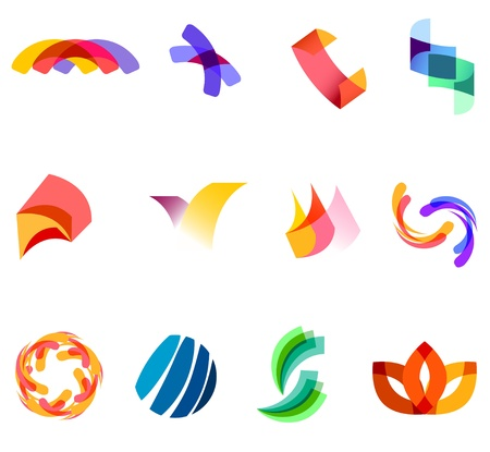 12 colorful symbols