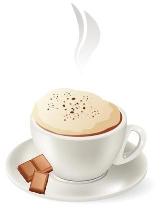 vivacity: Cup of hot cappuccino