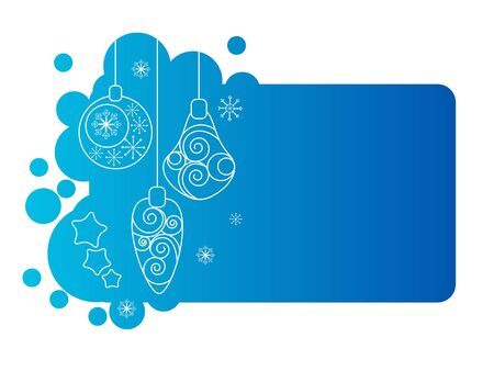 Blue christmas frame with decorations Stock Vector - 10639808