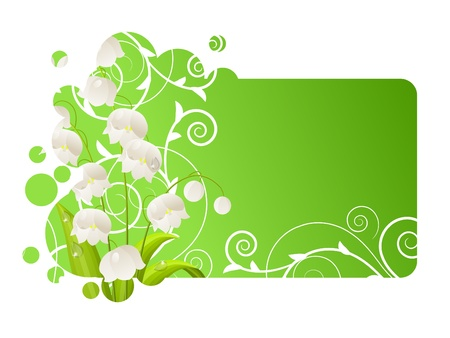 Beautiful frame with lily of the valley Vector