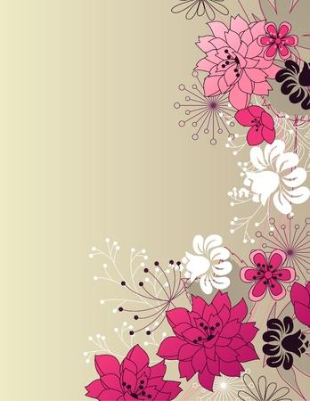 De fondo estilo floral ligero