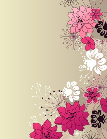 clip art draw: Stylish floral light background Illustration
