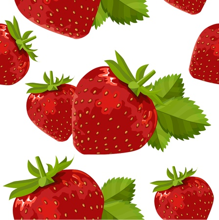 fruity: Seamless pattern with strawberry