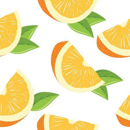 orange cut: Patr�n transparente con rodajas de naranja Vectores