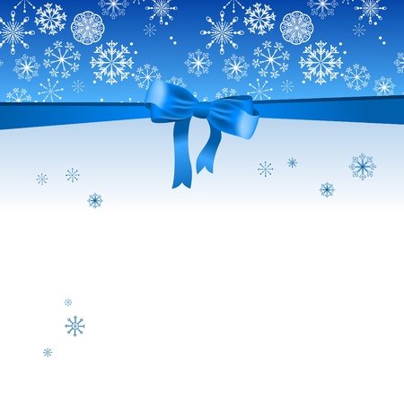 Beautiful Christmas blue background Illustration