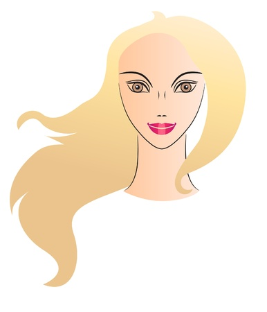 Woman face. Full view Vector