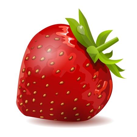 Reife Erdbeere, isoliert