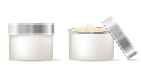 cosmetic cream: Cream containers isolated