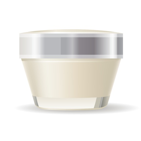 woman face cream: Cream container isolated Illustration