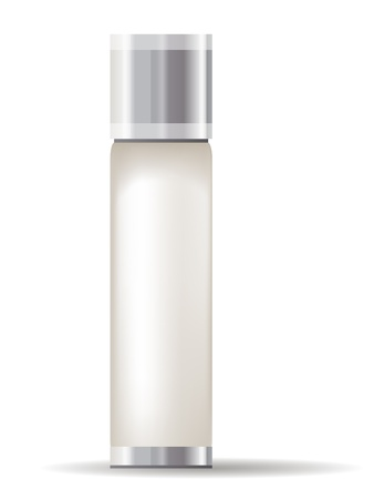 fragrance: Cream container geà ¯ soleerd Stock Illustratie