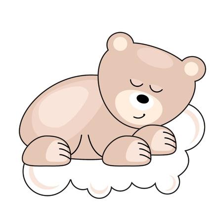 Small bear sleeping Vector