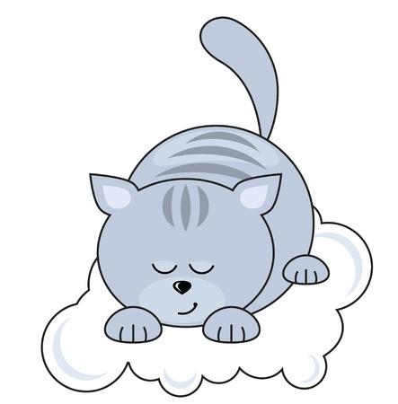 cat sleeping: Small cat sleeping Illustration