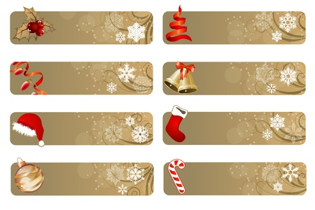 Set of different Christmas banners Stock Vector - 10689272