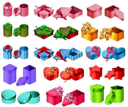 giftbox: Collection of different gift boxes