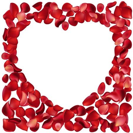 luxo: Frame made of rose petals