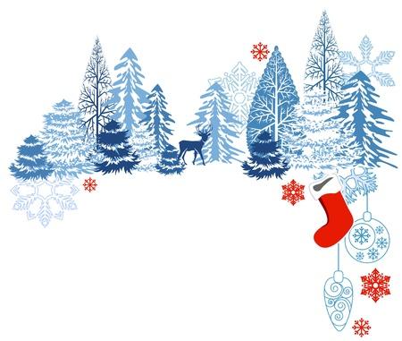 Winter blauw landschap