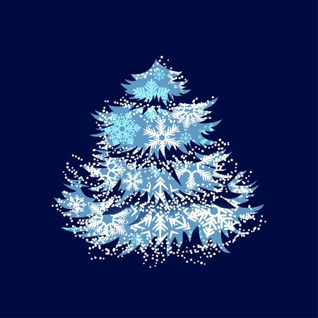 Christmas tree made of snowflakes Stock Vector - 10761977
